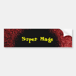 Super Mage Bumper Sticker