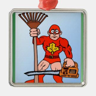 Super man in the garden christmas ornament