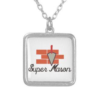 Super Mason Silver Plated Necklace