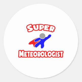 Super Meteorologist Classic Round Sticker