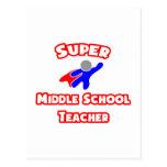Super Middle School Teacher Post Card
