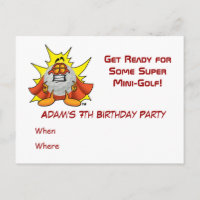 Super Mini Golf Party Invitation