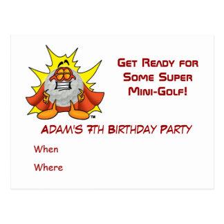 Super Mini Golf Party Invitation Post Card