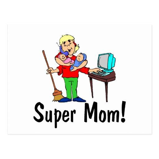 Super Mom (4 Arms) Postcard