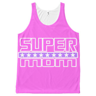 Super Mom All-Over Print Tank Top