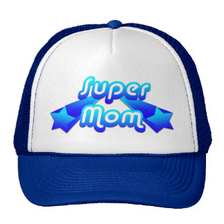 Super Mom Blue Trucker Hats