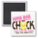 Super Mom Chick 1 Fridge Magnets