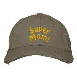 Super Mom! Customize Me! Embroidered Baseball Hat