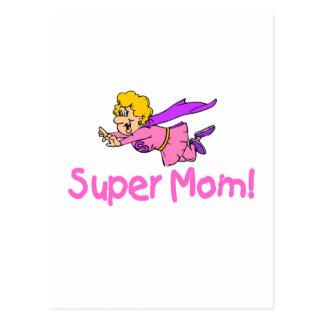 Super Mom (Flying) Postcard