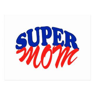 SUPER MOM fun Postcard for Mother