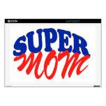SUPER MOM LAPTOP DECALS