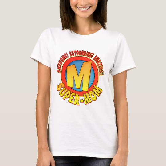 Super Mom Mother's Day Ladies Baby Doll T-Shirt
