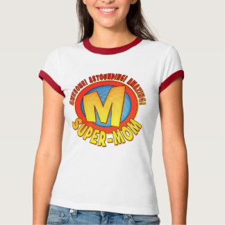 Super Mom Mother's Day Ladies Ringer T-Shirt