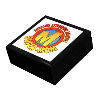Super Mom Mother's Day Tile Topped Gift Box