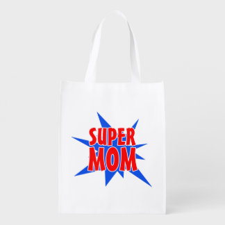 Super Mom Mother's Day  Tote Bag Grocery Bag