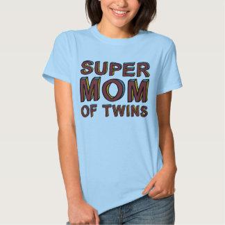 SUPER MOM OF TWINS TEES