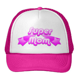 Super Mom Pink Hats