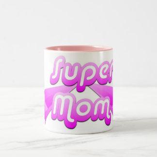 Super Mom Pink Mug