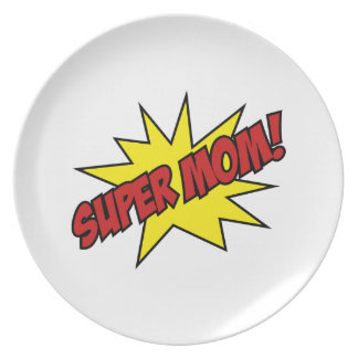 Super Mom Party Plate