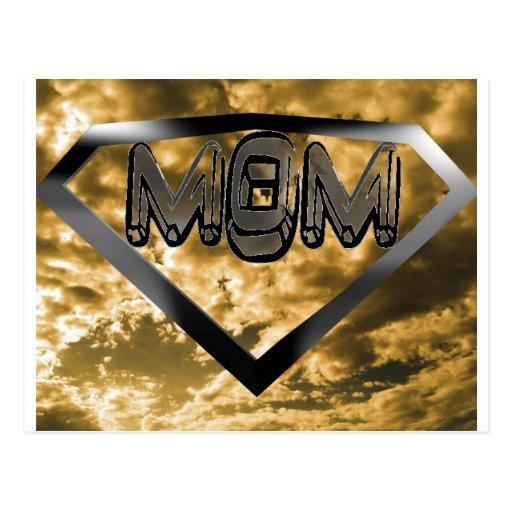 Super mom postcard