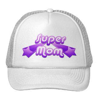 Super Mom Purple Mesh Hat