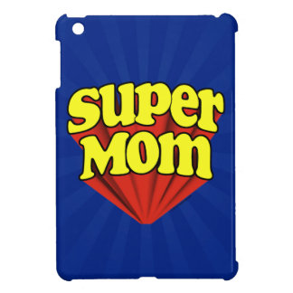 Super Mom Red/Yellow/Blue Superhero Mother's Day iPad Mini Cover