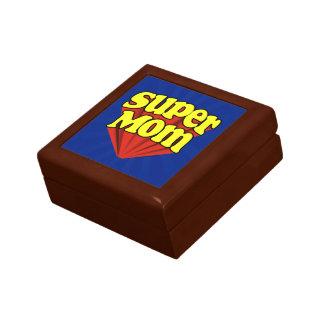 Super Mom Red/Yellow/Blue Superhero Mother's Day Keepsake Box