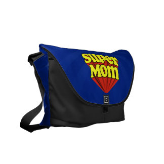 Super Mom Red/Yellow/Blue Superhero Mother's Day Messenger Bag
