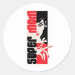 Super Mom Round Sticker