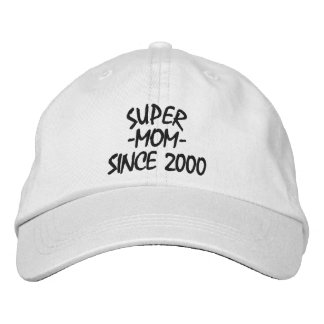 Super Mom Since Embroidered Baseball Cap