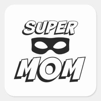 Super Mom Square Sticker