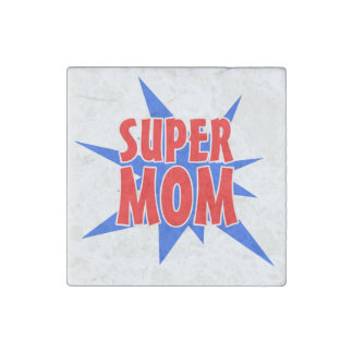 Super Mom Stone Magnet