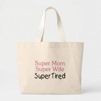 Super Mom Super Wife Super Tired Large Tote Bag