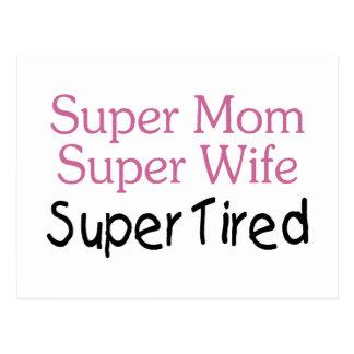 Super Mom Super Wife Super Tired Postcard