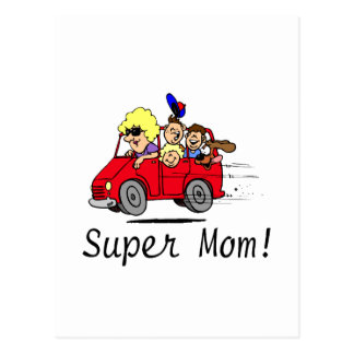 Super Mom (Van/Kids) Postcard