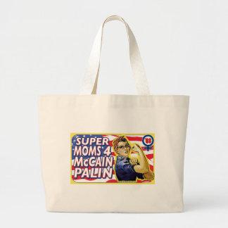 Super Moms for McCain Palin Tote Bag