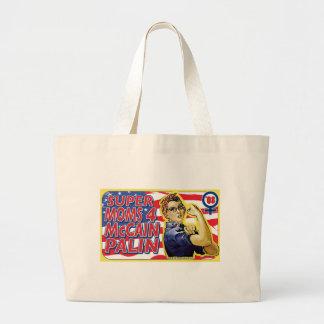 Super Moms for McCain Palin Canvas Bag