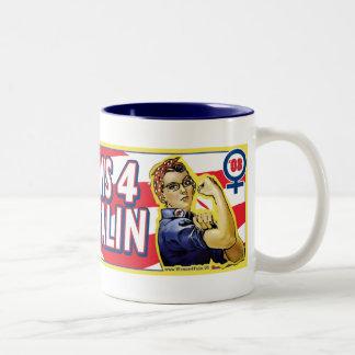 Super Moms for McCain Palin Two-Tone Coffee Mug