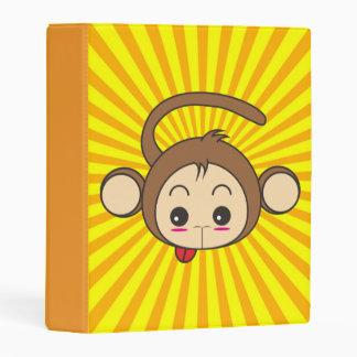 Super Monkey Face on Sunburst Background Mini Binder
