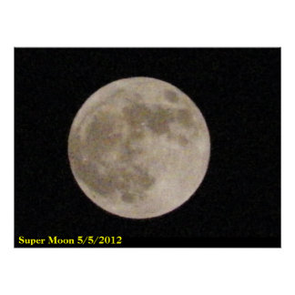 Super Moon 2012 Poster sized Canvas Print