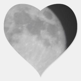 Super Moon 2013 Heart Sticker