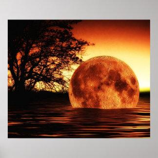 Super Moon Art Poster