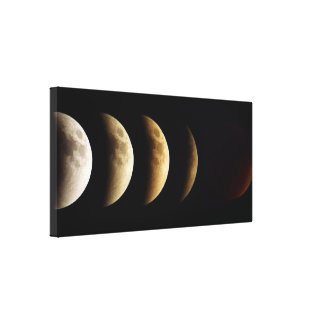 Super Moon, Blood Moon, Lunar Eclipse, 2015 Canvas Print