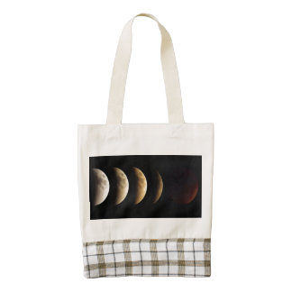 Super Moon, Blood Moon, Lunar Eclipse, 2015 Zazzle HEART Tote Bag