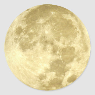 Super Moon Classic Round Sticker
