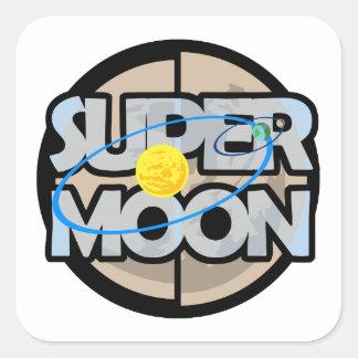 Super Moon Diagram Square Sticker