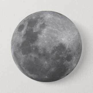 Super Moon Full Moon Lunar Photograph Sticker Button