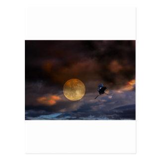 Super Moon Halloween Post Cards