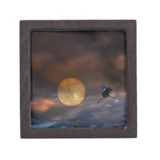 Super Moon Halloween Premium Trinket Boxes