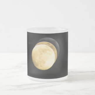 Super Moon HD Frosted Glass Coffee Mug
